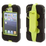 Griffin Survivor Military Duty Case + Belt Clip for iPhone 4 / 4S- Citron/Black (GB02893)